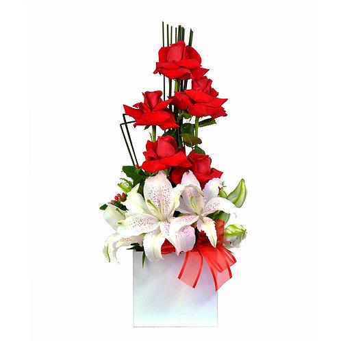 Rosas colombianas  e lírios