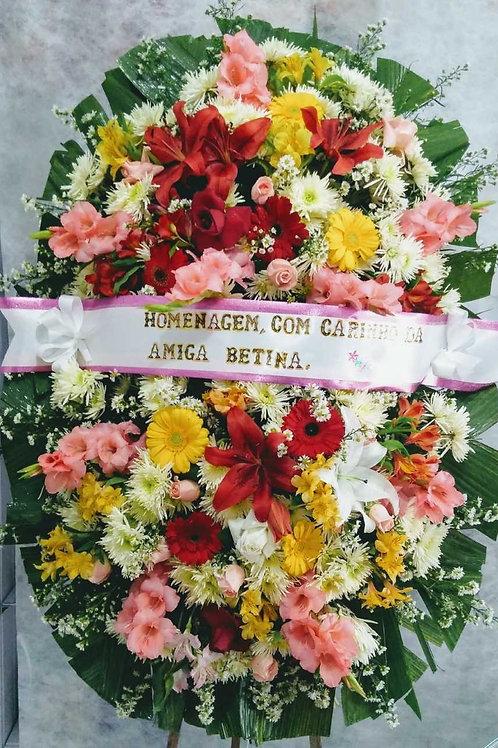Coroa Grande com flores  Nobres.