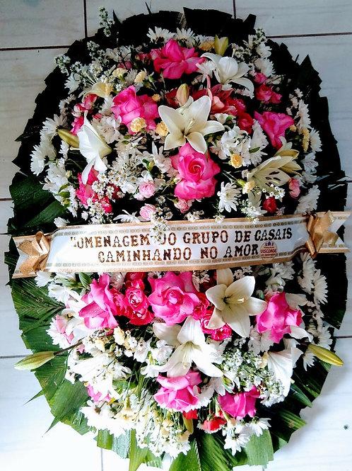 Coroa com Rosas, Lírios e Flores do Campo