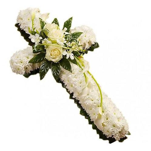 Cruz  de Flores com Rosas 70 cm