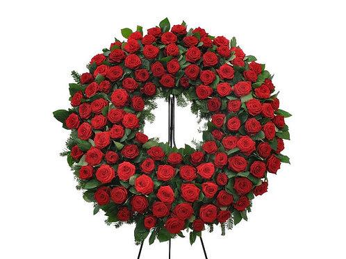 Coroa redonda super luxo de rosas