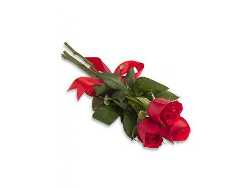 Buque três rosas importadas .