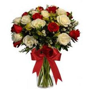 Buque 24 rosas colombianas.