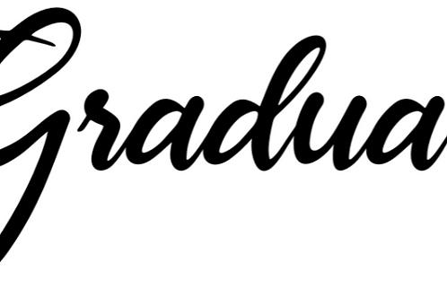 "Stencil ""Graduate"""