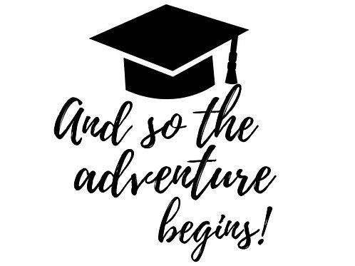 """Stencil """"Adventure Begins"""""""