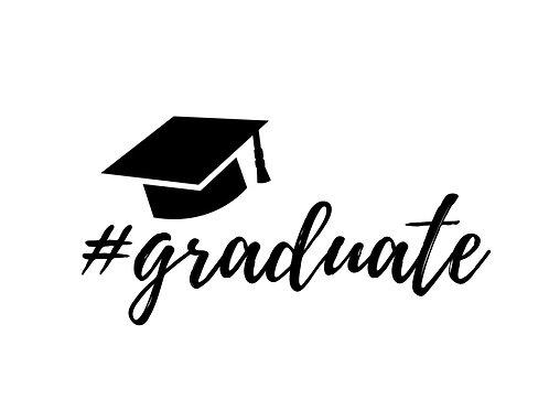 "Stencil ""#graduate"""