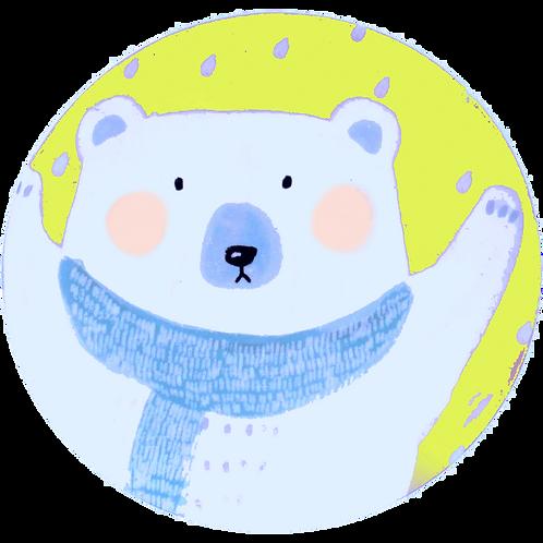 Colonial School - Winter Bear Plate - 11-18-20 4 pm