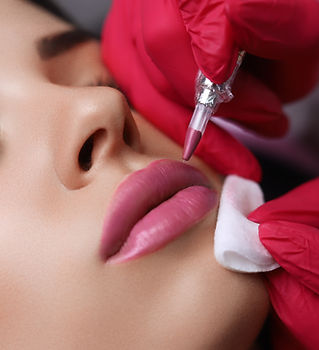 Permanent Make-up on her Lips..jpg