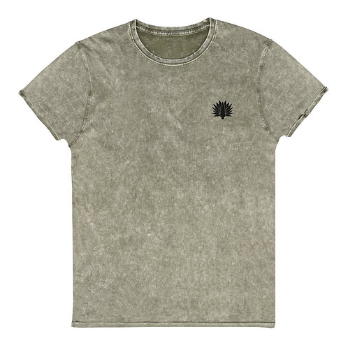 Embroidered Denim T-Shirt