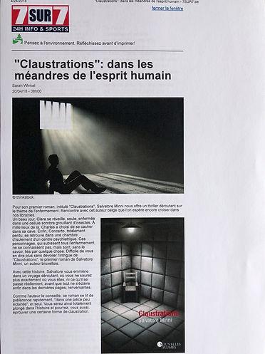 Claustrations - 7sur7