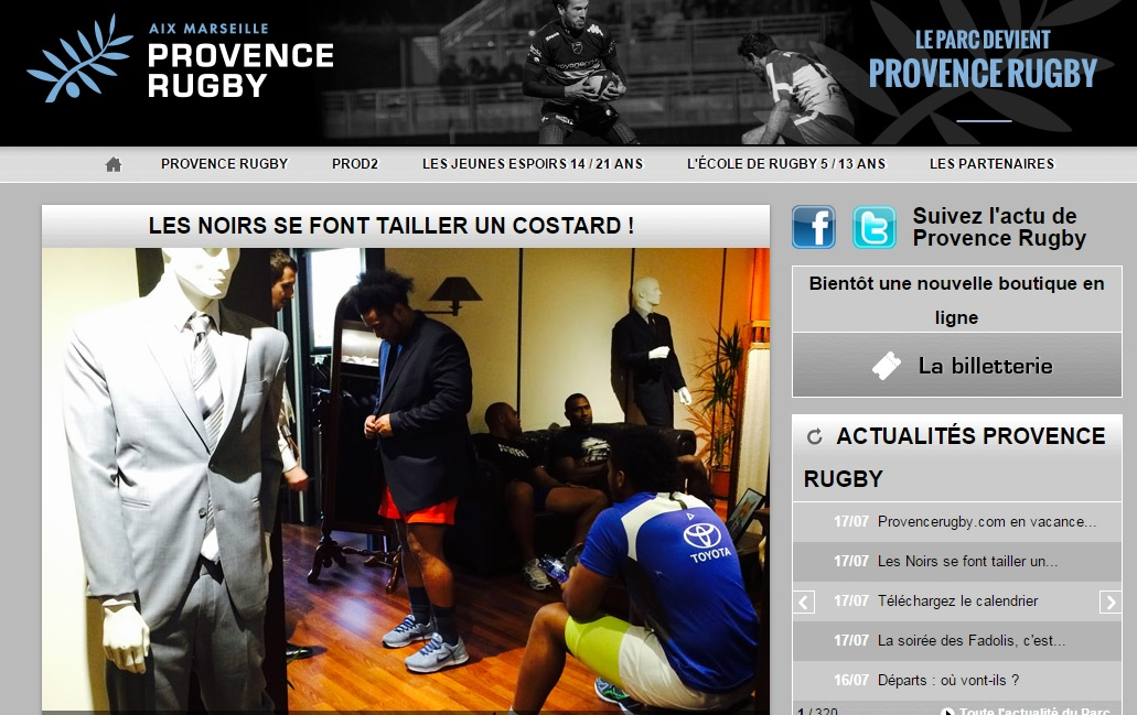 Site PROVENCE RUGBY