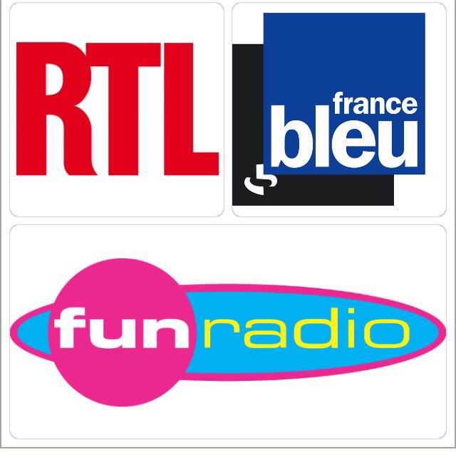 Radios RTL, France Bleu & Fun Radio