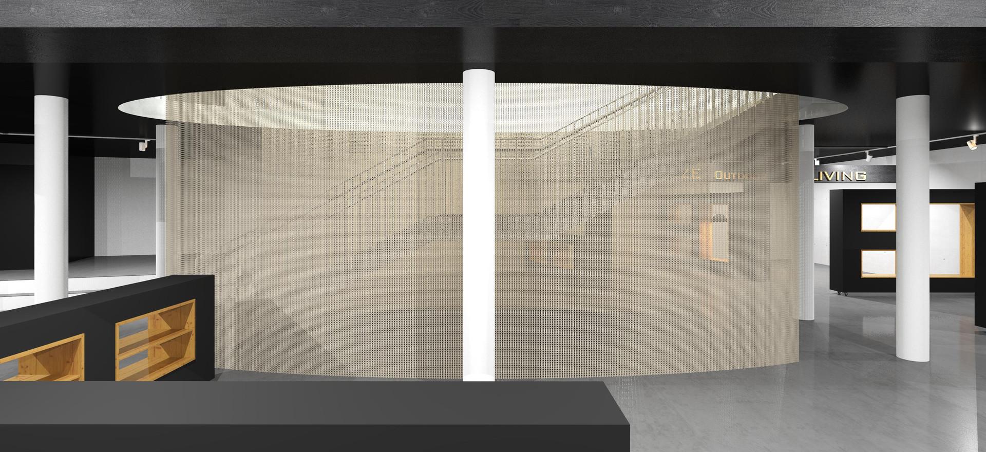3D-Ansicht Mitte-unten-schmal o. Möbel,