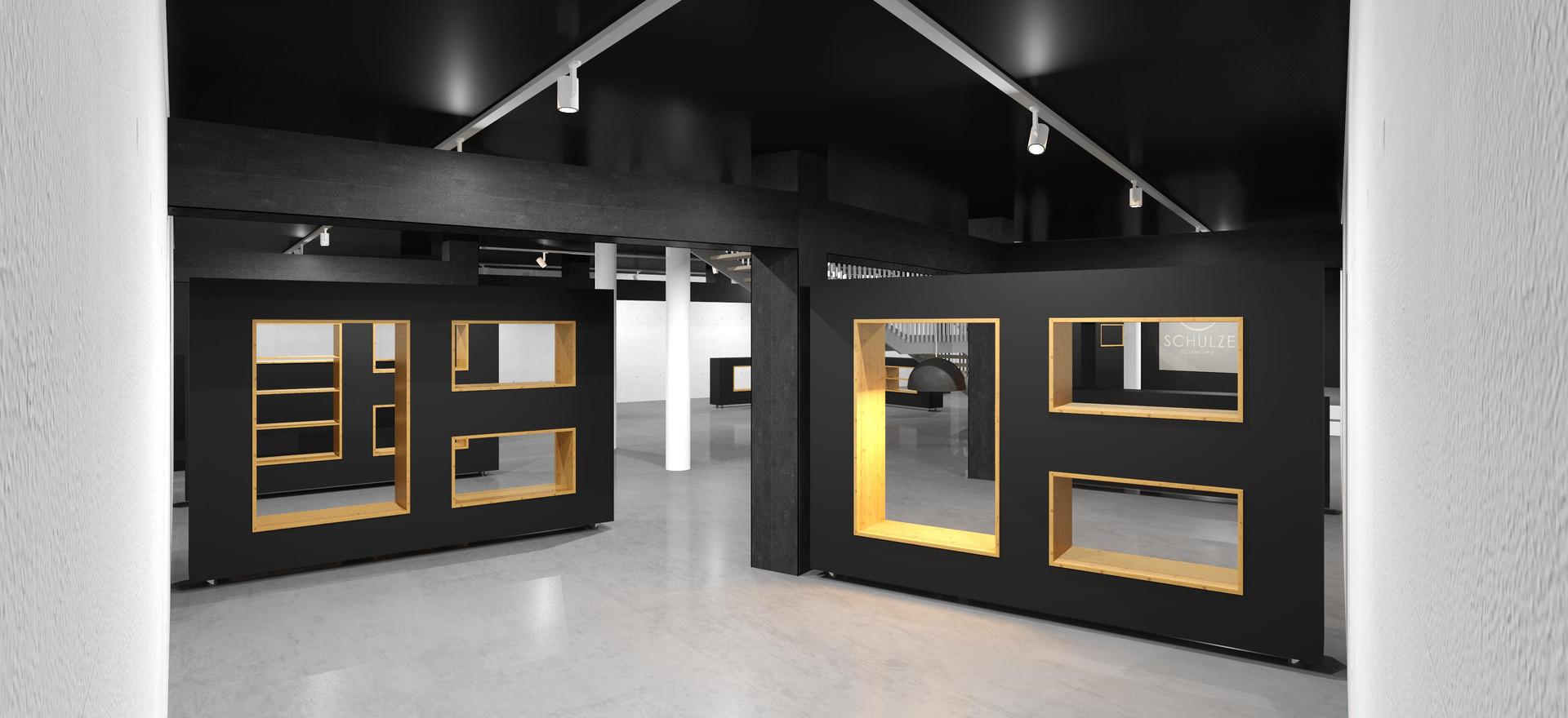 3D-Ansicht rechts-oben o. Möbel, o. Vorh