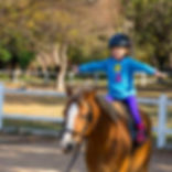 Kids' horse riding lessons