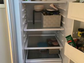 Kühlschrank VOR dem Einkauf und NACH dem Einkauf