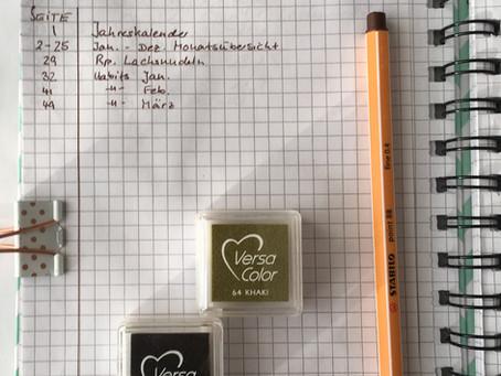 Aufbau (m) eines Bullet Journals... und was sonst noch so ganz nett ist, um es schön zu gestalten
