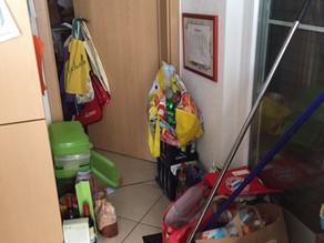 Vorher-Nachher: Zugang zur Speisekammer