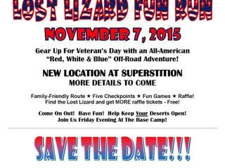 UPCOMING EVENT: 11th Annual Lost Lizard Run