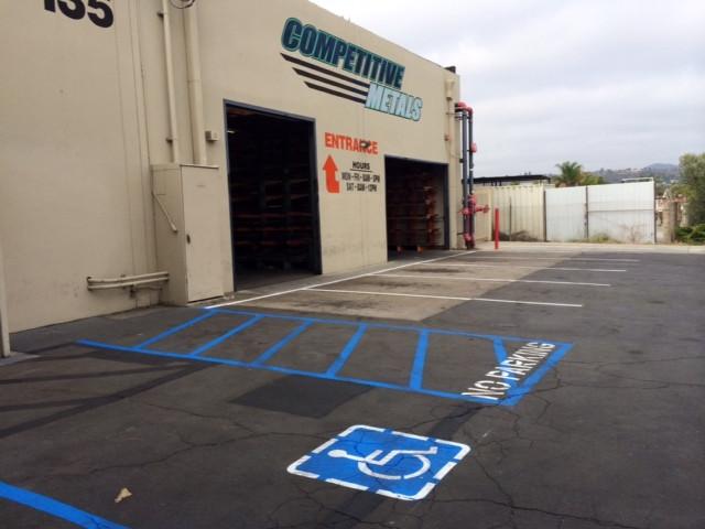 Metal Supply New Customer Parking Area