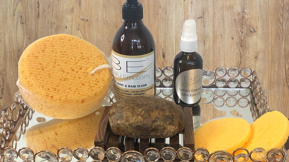 Black Soap & Essential Oils Luxury Skin Care Set
