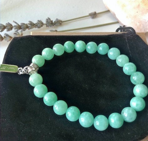 8MM Cloudy Jade Gemstone Bracelet