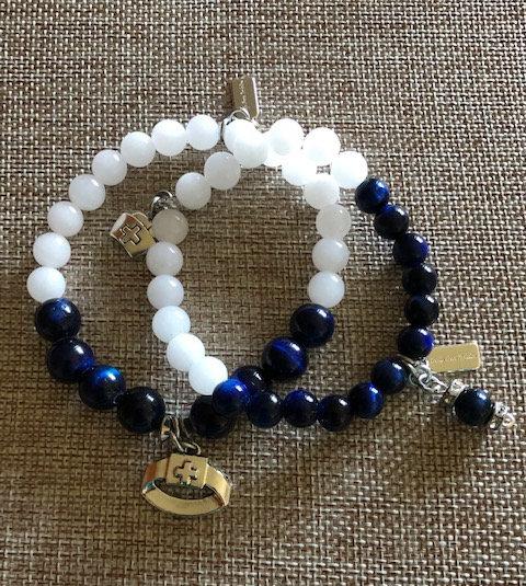 Medical First Responders Crystal Stack Bracelet Set