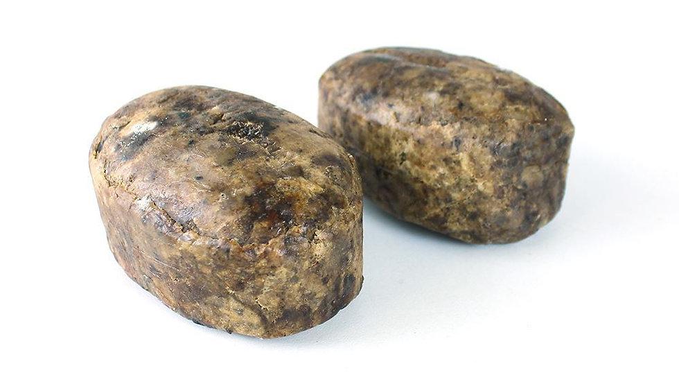 Raw All Natural Black Soap Bar
