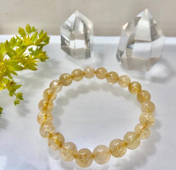 Natural Citrine  Crystal Healing Stretch Bracelet