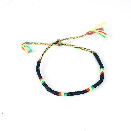 Rasta Tie String Bracelet
