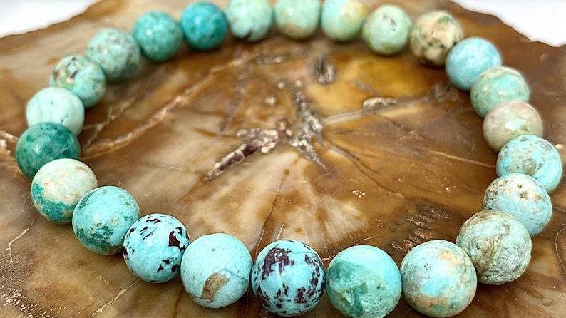 Natural Turquoise Crystal Stretch Bracelet
