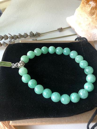 """Children's """"Cloudy Jade"""" Gemstone Bracelet"""