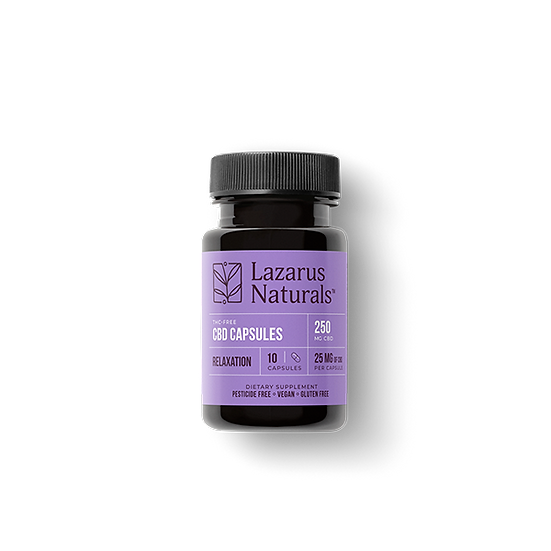 Relaxation Blend 25mg CBD Isolate Capsules - 10
