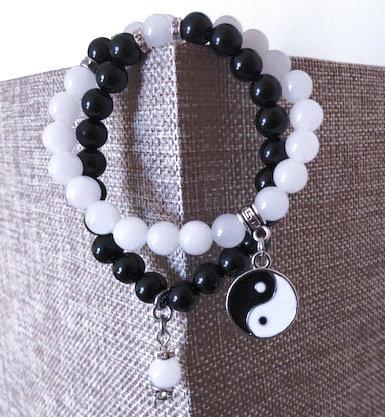 Yin and Yang Crystal Bracelet