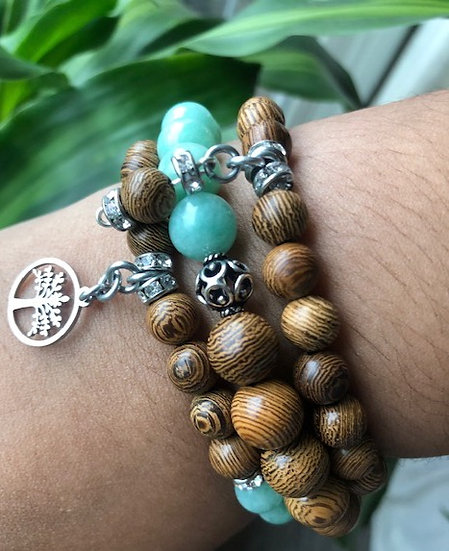 Tree of Life  Stackable Bracelet Set