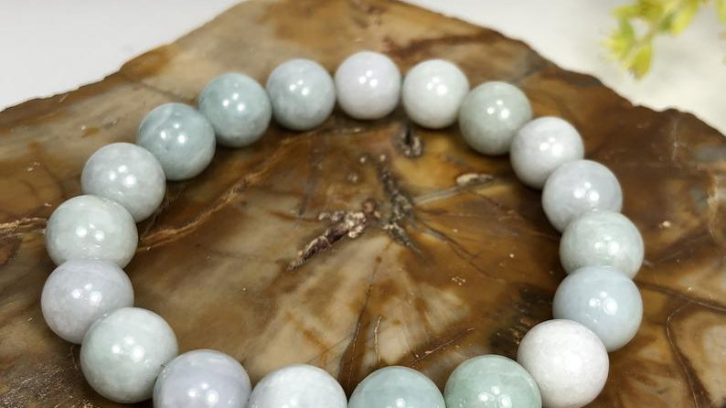 10mm Natural Burma Jade  Crystal Healing Stretch Bracelet
