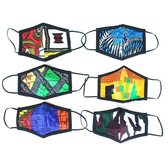 Set of 6 African Face Masks