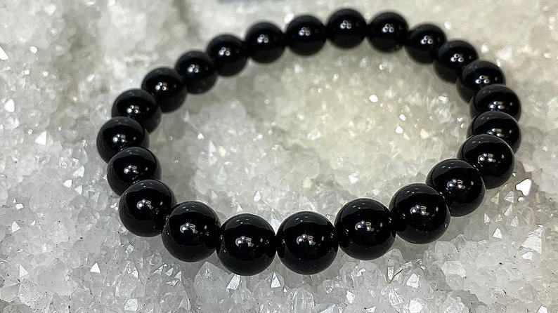 Natural Onyx Crystal Healing Stretch Bracelet