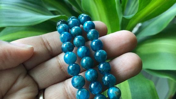 Natural Apatite  Crystal Healing Stretch Bracelet