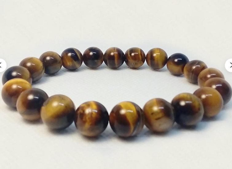 8MM Tiger's Eye Gemstone Bracelet