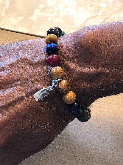 """Tiger Streak"" Crystal Stretch Bracelet"