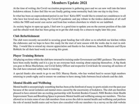 MEMBERS UPDATE 2021