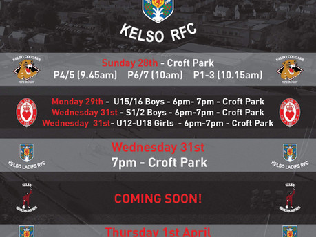 Return to Rugby at Kelso RFC