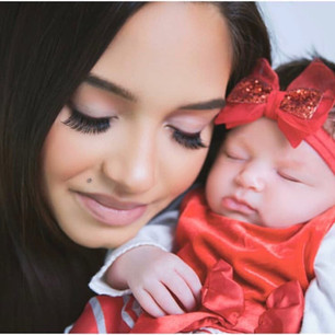 Makeup on this beautiful new mom