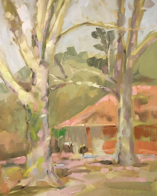 #art#oilpainting#pleinair_Oil on canvas
