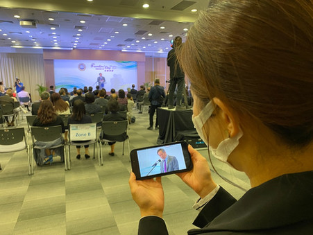 Physical event for University Founder's Day with live streaming service