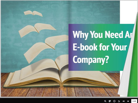 Developing an interactive flipping eBook for an insurance company