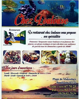 Restaurant chez loulouse plage malendure