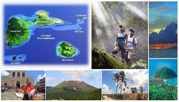 Carte postale voyage archipel guadeloupe
