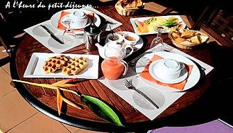 Petit déjeuner à l'hôtel La Rose du Brésil Marie-Galante